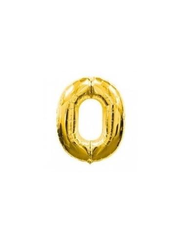 Globo Metálico 98 cm Números Dorado  Globos Metálicos