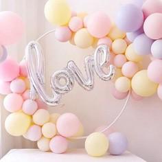 Set Globos Arco Love Pastel Cotillón Activarte Cotillón Día de la Mamá y Enamorados