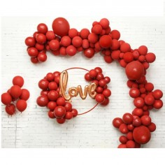 Set Globos Arco Love Rojo  Cotillón Día de los Enamorados