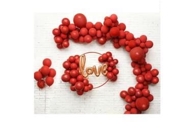 Set Globos Arco Love Rojo  Cotillón Día del Niño/San Valentín