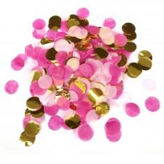 Confetti Rosado Dorado  Decoración Cumpleaños y Fiestas