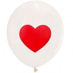 Globo Impreso Corazón x 25  Cotillón Día del Padre/Madre/San Valentín