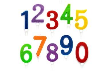 Vela XL Glitter Números  Velas
