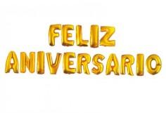 Globo Metálico Feliz Aniversario  Globos Diseños