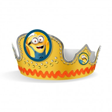 Corona Festejado Minions  Cotillón Minions