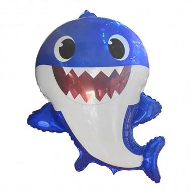 Globo Metálico Daddy Baby Shark  Cotillón Baby Shark