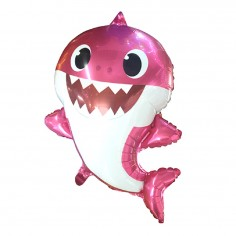 Globo Metálico Mommy Baby Shark  Cotillón Baby Shark