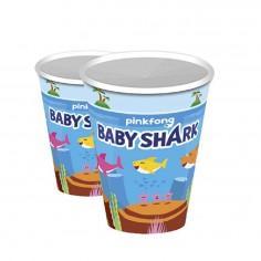 Vasos Cumpleaños Baby Shark x 6 Cotillón Activarte Cotillón Baby Shark