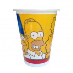 Vaso Cumpleaños Simpsons x 6  Cotillón Simpsons