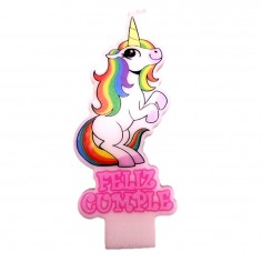 Vela Unicornio Feliz Cumple  Cotillón Unicornio