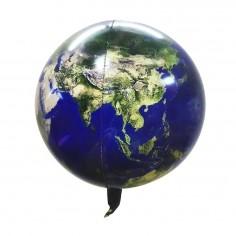 Globo Metálico Tierra  Cotillón Espacial