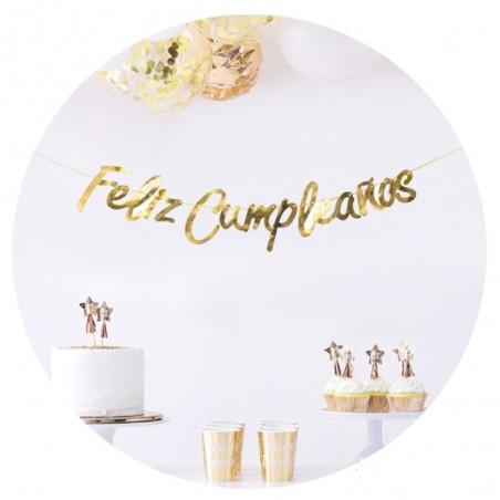 Guirnalda Feliz Cumpleaños Cursivo  Guirnaldas y Colgantes