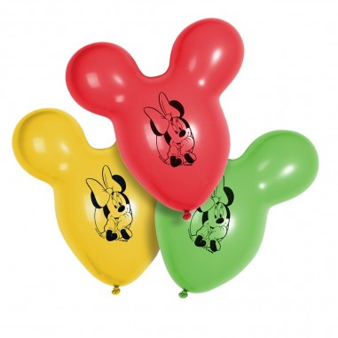 Globo Figura Minnie x 6  Cotillón Minnie Mouse