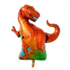 Globo Metálico Dinosaurio Tiranosaurio Rex  Cotillon Dinosaurio