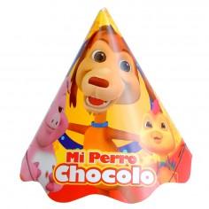 Gorros Cumpleañps Perro Chocolo x 6  Cotillón Perro Chocolo