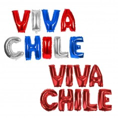 Globo Letras Viva Chile  Decoración Chile