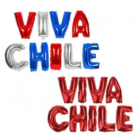 Globo Letras Viva Chile  Decoración Chile