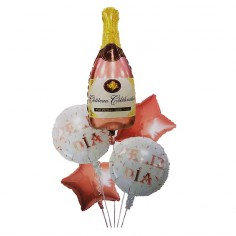 Set Globos Metálicos Champaña Rose Gold  Globos Metálicos