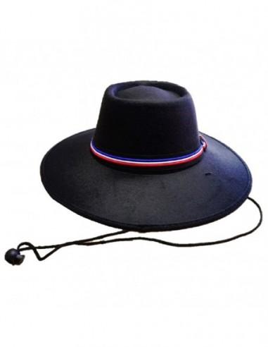 Sombrero Huaso Negro Niño Tela  Cotillón Chile