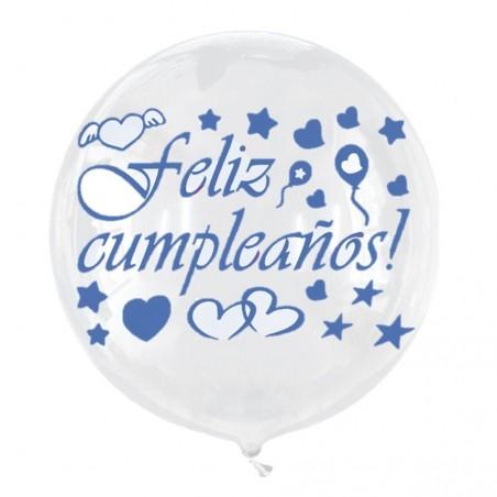 Globo Burbuja Feliz Cumpleaños Colores  Globos Diseños