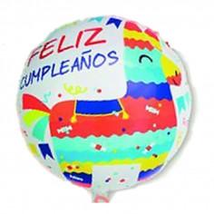 Globo Metálico Feliz Cumpleaños Llama Redondo Cotillón Activarte Globos Metálicos