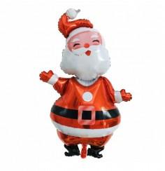 Globo Metálico Viejo Pascuero  Decoración y Cotillón Navidad
