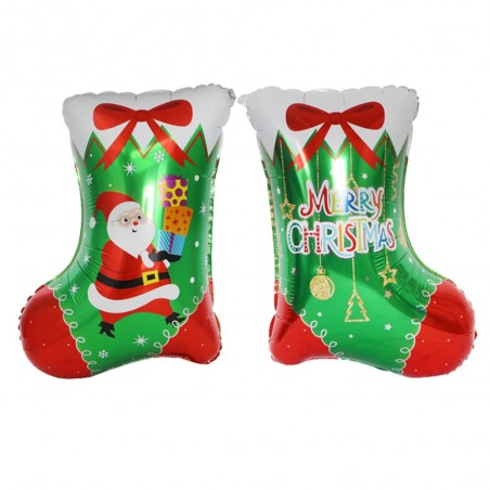 Globo Metálico Bota de Navidad  Decoración y Cotillón Navidad