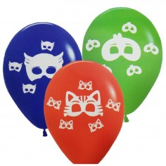 Globo Cumpleaños PJ Masks x 12  Cotillón PJ Masks