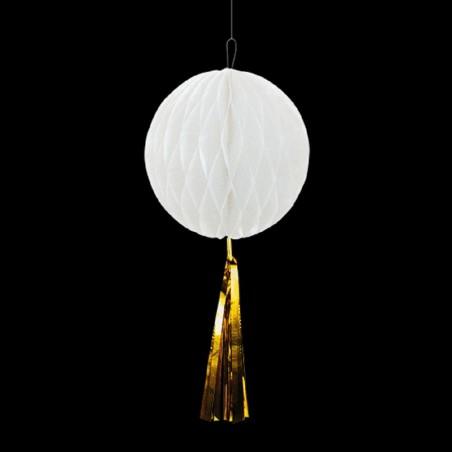 Colgante Panel Blanco Tassel Dorado  Guirnaldas y Colgantes