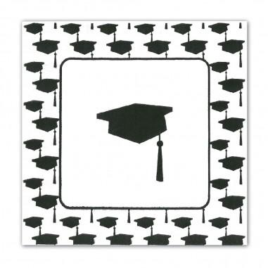 Servilletas Graduación x 20  Líneas Diseño