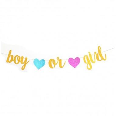 Guirnalda Boy Girl Letras Revelación De Género Cotillón Activarte Baby Shower y más