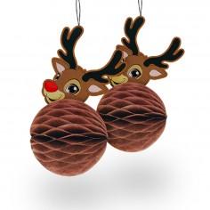 Deco Navidad Reno x 2  Decoración y Cotillón Navidad