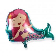Globo Metálico Cumpleaños Sirena 74 cm  Cotillón Sirena