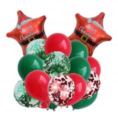 Set Globos Navidad Estrella  Decoración y Cotillón Navidad