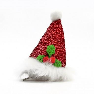 Mini Sombrero Pascuero Tocado Glitter  Decoración y Cotillón Navidad
