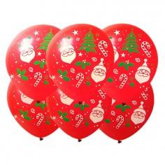 Globo Latex Navidad x 6  Decoración y Cotillón Navidad