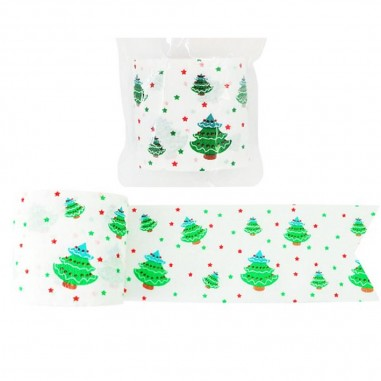 Festón de Navidad Arbolitos  Decoración y Cotillón Navidad