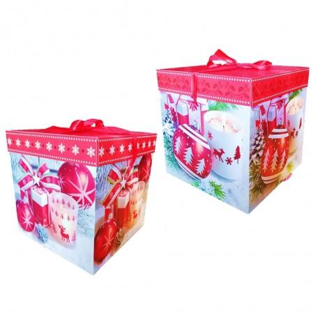 Caja de Regalo de Navidad 22 cm  Decoración y Cotillón Navidad