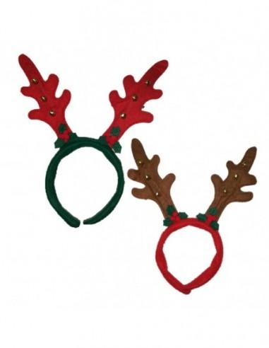 Cintillo Reno Navidad x 6  Decoración y Cotillón Navidad
