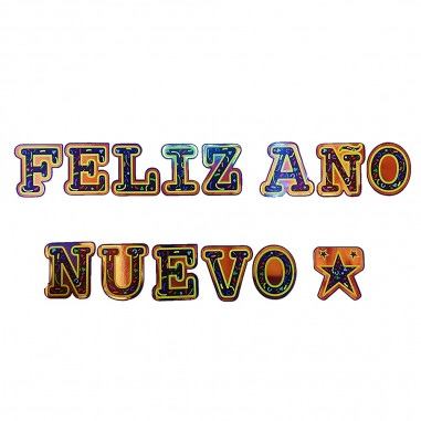 Guirnalda Feliz Año Nuevo Estrella  Decoración Año Nuevo