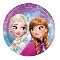 Plato Frozen x 6  Cotillón Frozen