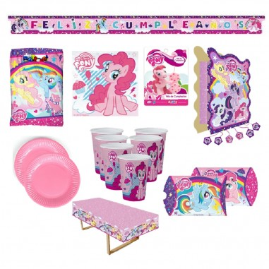 Pack Cumpleaños My Little Pony x 18  Cotillón My Little Pony