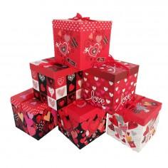 Caja de Regalo de San Valentín 22 cm  Cotillón Día de los Enamorados