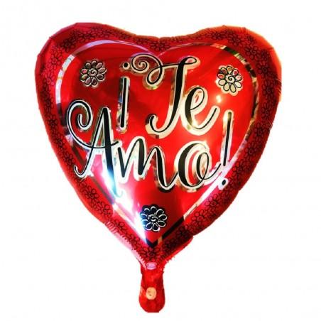 """Globo Metálico Corazón """"Te Amo""""  Cotillón Día de los Enamorados"""