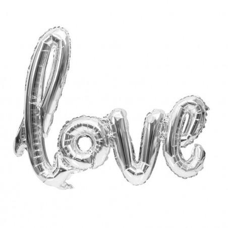 Globo Metálico Love  Cotillón Día de los Enamorados