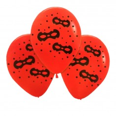 Globos Cumpleaños Ladybug Antifaz x 12  Cotillón Ladybug