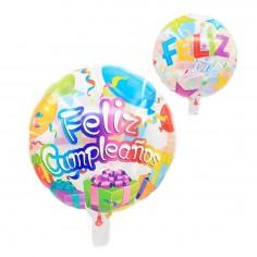 Globo Transparente Feliz Cumpleaños Colores  Globos Diseños