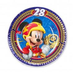 Plato Mickey Mouse x 6  Cotillón Mickey Mouse