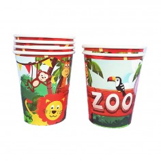 Vasos Cumpleaños Animalitos Zoo Cotillón Activarte Cotillón Animalitos