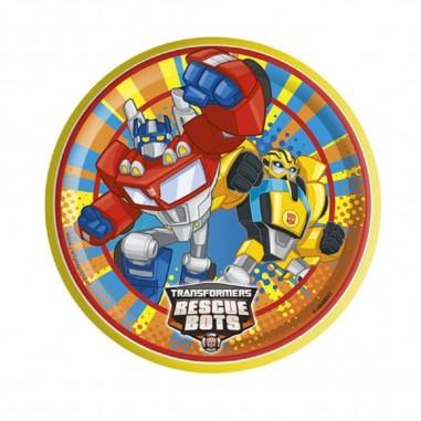 Plato Transformers x 6  Cotillón Transformers